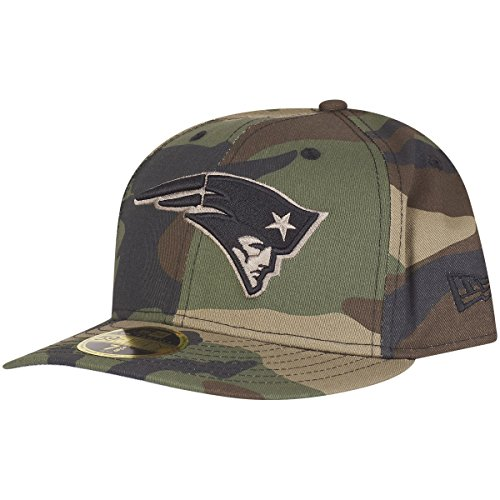 New Era 59Fifty LOW PROFILE Cap - New England Patriots wood - 7 1/2 (Cap Low Profile 3d)