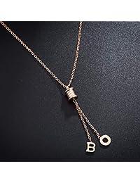 b73a0553edaf Necklace Home Carta Larga Borla Collar Femenino Creativo Oro Rosa Colgante  Collar de la joyería Tendencia