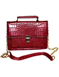 Rahseh Fashion Reddish Color Leather PU Sling Bag/Hand Bag For Girls & Women's