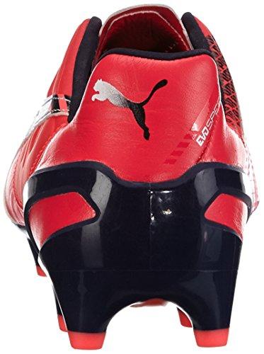 Puma evoSPEED 1.3 Lth FG, Chaussures de football homme Rose (bright plasma-white-peacoat 03)