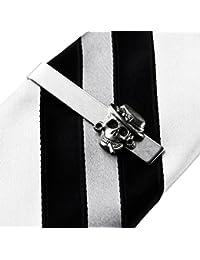 Tête de mort Pince à cravate pour homme, cadeau de mariage, dragées, Guy, cadeaux, boîte cadeau inclus
