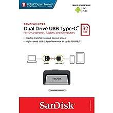 SanDisk Ultra 32 GB Dual USB Flash Drive USB 3.0 Type-C