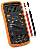Multimetro digitale tester professionale-LODESTAR LD9815B - Multi Tester con 4 Display LCD retroilluminato digitale e un cavalletto, Auto Ranging, Auto spegnimento, Test diodi, Misura corrente AC / DC, Tensione AC / DC