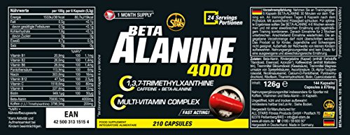 All Stars Beta Alanine 4000, 144 Kapseln, 1er Pack (1 x 126 g)