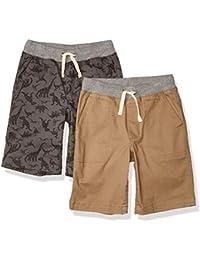 Amazon Essentials Paquete de 2 Pantalones Cortos para Niños - Shorts Niños
