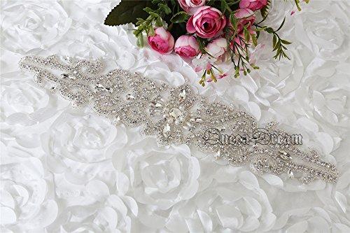 queendream Perle per matrimoni fascia cintura strass applique cristallo Trim
