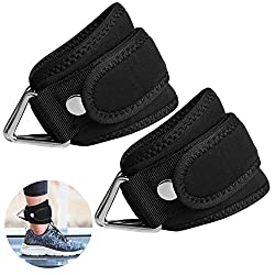 SUPRBIRD Footstraps 2er Set for Cable Pull - One-Size Padded Leg Trainer Foot Ankle Straps + Velcro for Leg Training on the Cable - Ankle Straps for Women and Men (L)