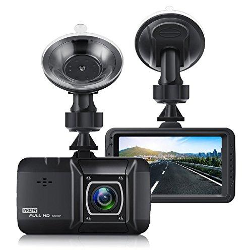 EIVOTOR, Dash Camera 1080P, Auto Kamera DVR 3 Zoll LCD-Bildschirm Full HD 170°Dual DashCam Vorne Weitwinkel Car Recorder mit G-Sensor Nachtsicht Bewegungserkennung WDR Parkmonitor Loop Aufnahme