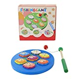 #8: talking ganesha Wooden Magnetic Fish and Animal Catching Learning Game with Wooden Pole (assorted puzzles) (9 Pieces)