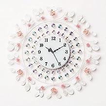 Rose 60*60cm,B Fer personnalité moderne acrylique Horloge murale grand nombre pour Salon Cuisine Chambre Adolescent Enfants Mur Bureau décor Art cadeau Anniversaire de Mariage
