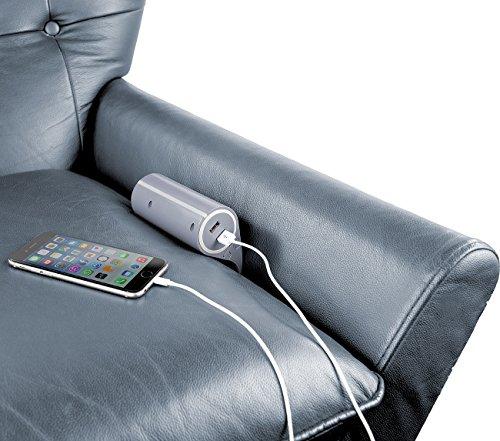 revolt Sofa Steckdosenleiste: Sofa-Steckdose mit 2 USB-Ladeports, 2,4 A / 12 W, 2,8 m Anschlusskabel (Couchsteckdose)