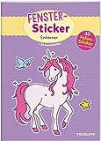 Fenster-Sticker Einhörner: 24 Ausmalseiten, 30 Folien-Sticker (Malbücher und -blöcke)