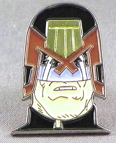 Mainly Metal Metall Emaille Brosche Judge (Joseph) Dredd (2000 AD)