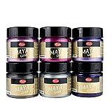 Viva Décor Maya Gold Ensemble de 6 couleurs - Sweet Dreams - --- Couleur métallique, lustre métallique, brillant Couleur, Couleur de l'artisanat, Couleurs décoratives