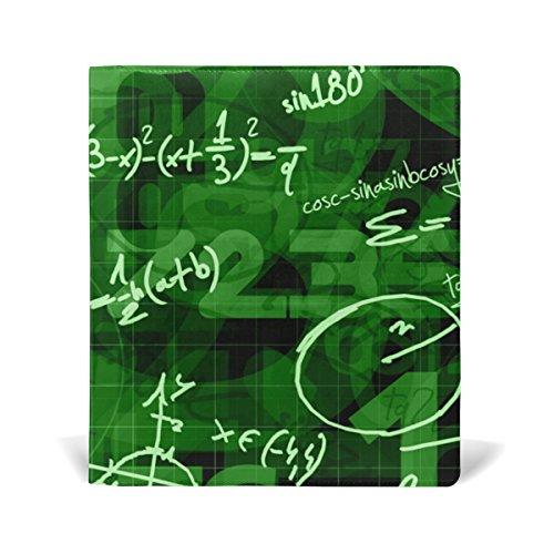 COOSUN Schule Mathematischer Hintergrund Buch Sox dehnbare Buchdeckel, geeignet für die meisten Hardcover Lehrbücher bis zu 9 x 11. leimlose, PU-Leder-Schule-Buch-Schutz 9-x-11-Zoll mehrfarbig