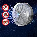 TAOtTAO Solar Powered Buzz UV Lamp Light Fly Insect Bug Mosquito Kill Zapper Killer
