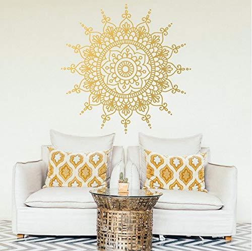 Lvabc Mandala Muster Blume Des Lebens Abnehmbare Wandaufkleber Für Wohnzimmer Yoga Dekoration Vinyl Wandtattoos Tapete 56X56 Cm (Halloween Tür Klassenzimmer)