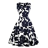 Women's A-Line Knee-Length Vintage Evening Kleider 50s Rockabilly Dress Festive Party Dresses Cocktail Dresses(4XL)