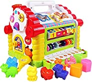 Popsugar Activity Cube Kids Toddler Baby Educational Toy Multipurpose Early Learning Game Play Center, Multico