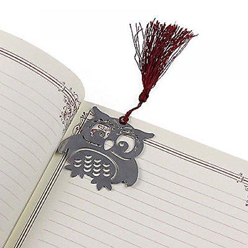 Ogquaton Lesezeichen-Eulen-Anmerkungs-Buch-Markierungs-Notiz-Briefpapier-Geschenke, 4 Satz langlebig und praktisch