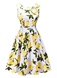 Futurino Women's Casual Vintage Classy Floral 1950s Audrey...