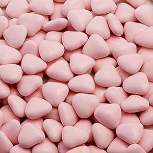 Gastgeschenk Schokodragees rosa Herzen klein 1kg