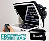 TeleprompterPAD iLight Pro 10'' weiß - 100x100 Aluminium Profi robust (No Kunststoff zerbrechlich). kompatibel mit iPad/Android. Handy multicamera. HD beamsplitter Glas. Hohe Qualität. Made EU