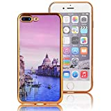 iPhone-7-Plus-Coque-Transparente-TPU-Gel-Souple-Ultra-Slim-Electroplate-Frame-Incassable-avec-Impression-Sunroyal-Coque-iPhone-7-Plus-Coque-iPhone-7-Plus-55-pouces-Etui-Housse-Silicone-Case-Cover-de-P