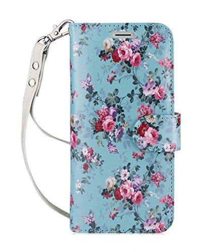 fyy Galaxy S8Fall, [RFID-blockierender Wallet] 100% Handgefertigt Wallet Case Stand Cover Kreditkarte Displayschutzfolie für Samsung Galaxy S8