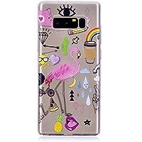Galaxy Note 8 Hülle ,Edaroo Ultra Dünn Leicht Transparent Klar Silikon Handyhülle mit Süßes Bunt Motiv SchutzHülle... preisvergleich bei billige-tabletten.eu