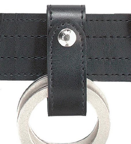 690 Handcuff Strap, 1 Snap, Hi Goss, Black, Chrome