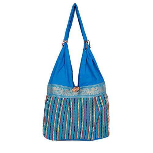 Womaniya Handbag (Blue) (Handicraft Jhola Bag)  available at amazon for Rs.249