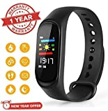LambentM3 Smart Fitness Band Activity Tracker with Heart Rate Sensor Compatible for All