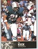 1997 Upper Deck Legends Football Card # 125 Jim Kiick - Miami Dolphins - NFL Trading Card
