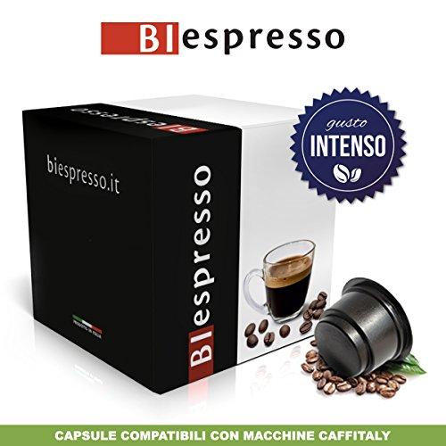 Biespresso 200 + 10 capsule compatibili con macchine caffitaly, gusto intenso, caffè prodotto in italia