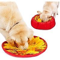 Qazwsxedc para Mascotas Doglemi Perro Snuffle Tazón Mat Snuffling Mascotas Nariz Trabajo Alfombra de Entrenamiento de IQ Lenta Eat Tazón XY (Color : Yellow)