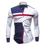 Hemd Herren,Sannysis Herren Langarm Oxford Formelle beiläufige Anzüge Slim Fit T-Shirt Hemden Bluse Top