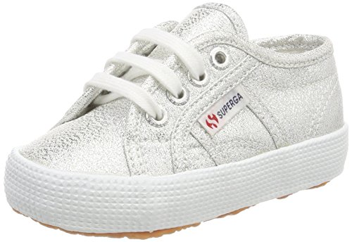 Superga Unisex-Kinder 2750-lamebumpj Sneaker, Silber (Silver), 26 EU (Sneakers Silber-kinder)