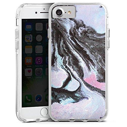 Apple iPhone X Bumper Hülle Bumper Case Glitzer Hülle Grunge Muster Perlmutt Bumper Case transparent