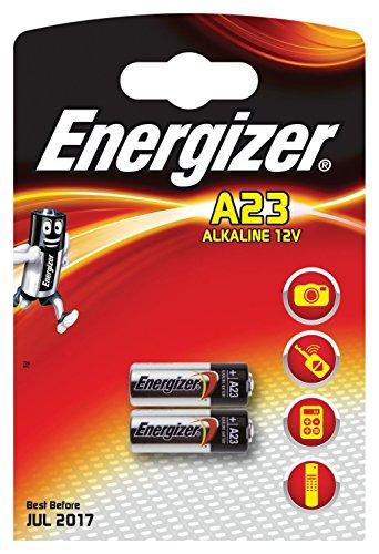 Energizer Alkali-Batterien, A23 /MN21/ LRV08/ GP23A, 12V,Doppelpackung (Taschenlampe Value Pack)