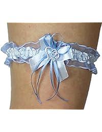 Unbekannt Strumpfband Braut mit Schleife Herzchen Silbernaht Farben viele Farben Hochzeit Strumpfbänder