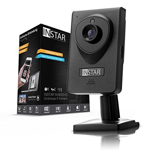 INSTAR IN-6001HD HD IP Kamera / Überwachungskamera / ipcam mit LAN / Wlan / Wifi zur Überwachung oder als Baby Kamera (4 IR LED Infrarot Nachtsicht, Weitwinkel, SD Karte, WDR, Bewegungserkennung, Aufnahme) schwarz