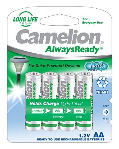 Camelion 17406406 Ni-MH Akku HR6/AA/Mignon, 600mAh, 4er-Pack chrom