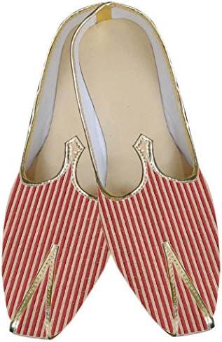 INMONARCH Hombres Rojo Gallardo Buscar Novio Zapatos MJ0061