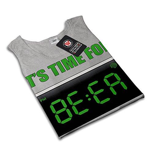 Bier Zeit Cool Witz Komisch Alarm Getränk Damen S-2XL Muskelshirt | Wellcoda Grau