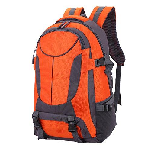 Yy.f50L Outdoor-Sport Wandern Klettern Camping Rucksack Reiseschulterbeutel Wasserdicht Einen Großen Rucksack Zu Fuß Professionelle Bergsteigen Taschen . Multicolor Orange