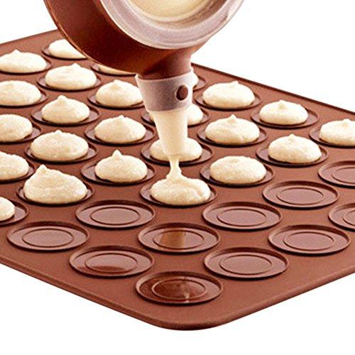 Wingogo Macaron Silikon Backform Matte 30 Kavität DIY Muffin Schokolade Cookie Form Blatt