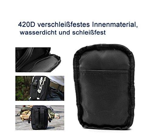 Unisex Multifunktion Wandern Hüfttasche Camping Outdoor Armee Tasche Trekking Bein Tasche Handy Gürteltasche Schwarz