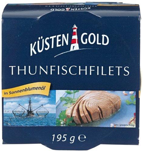 Küstengold Thunfischfilets in Öl, 6er Pack (6 x 195 g)