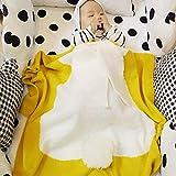 ZREAL Kinder Kaninchen Stricken Gehäkelte Decke Niedlichen Kaninchen Ohr Kinder Nickerchen Decke Bettwäsche Quilt
